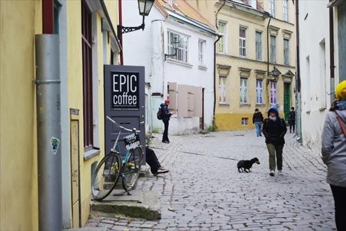 エストニア旧市街の街並み
