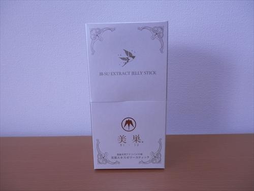 美巣 スティックゼリーの外箱の画像
