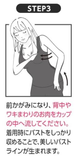 着るだけイージースリムの着方(ステップ3)