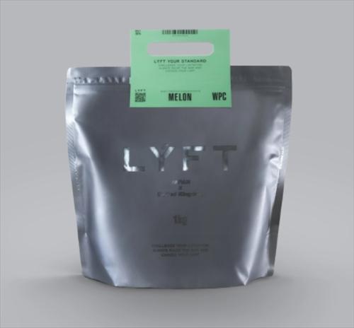LYFTプロテイン(メロン味)のパッケージ画像